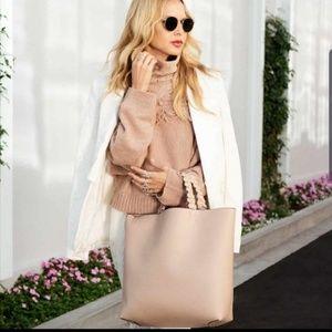 NWOT! Jules Kae Vegan Leather Blush Pink Tote